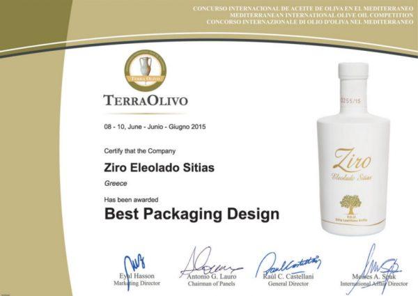 Ziro Sitia Early Harvest Extra Virgin 500ml Olivenöl