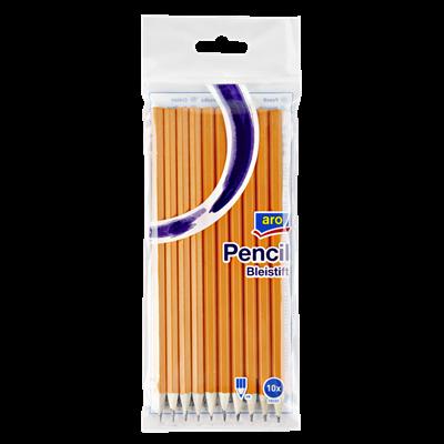 aro Bleistift mit Radiergummi 10er Pack