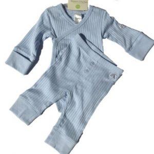Newborn Wickelbody und Hose hellblau, Größe 50/56