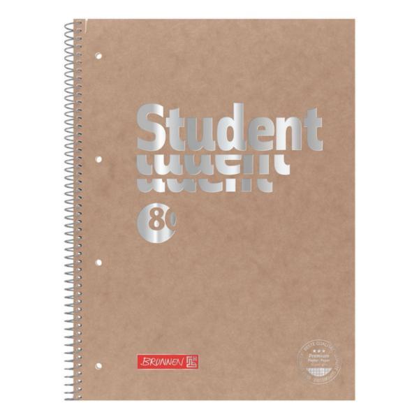 Brunnen Collegeblock Premium A4 kariert, 80 Blatt