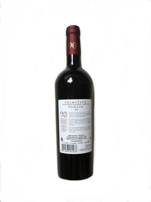 Novantaceppi Primitivo Puglia IGT 13,5 % vol 0,75 Liter